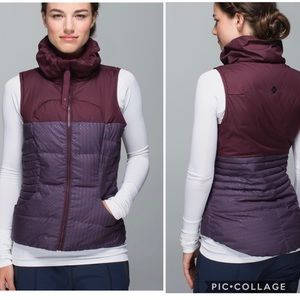 Lululemon Fluffin Awesome Vest Ink Bordeaux size 4